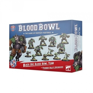 Blood Bowl The Thunder Valley Greenskins: Black Orc Team